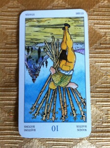 ten of wands amber with tarot reading