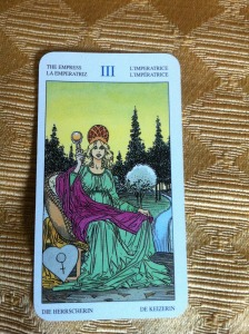 the empress amber with tarot reading